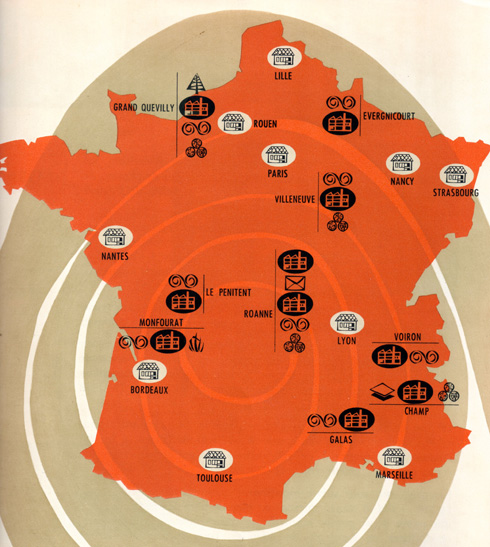 Usines Navarre en France en 1955
